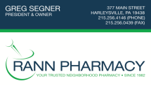 Rann Pharmacy Business Card and Logo Design (and printing)