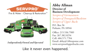 ServePro Business Card Design and printing