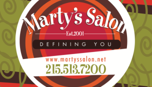 Marty's Salon Logo and Business Card (and printing)