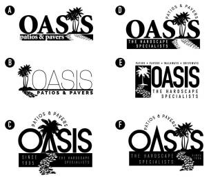 Oasis Hardscaping Logo design March 2018