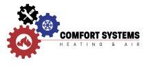 Comfort System HVAC concept logo