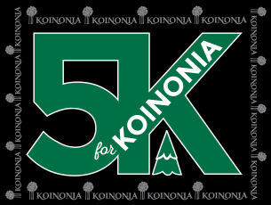 Koinonia 5K logo and banner